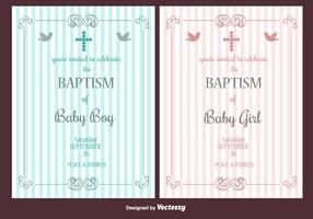 Baptism Vector Invitation