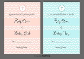 Baptism Vector Invitations