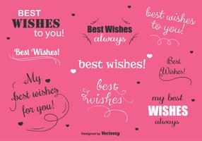 Best Wishes Vector Labels