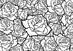 Rose Flower Vector Background Black And White