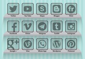 Social Media Transparent Icons