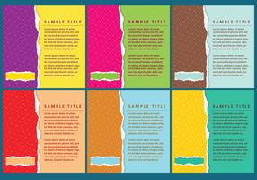 Ripped Paper Vector Templates