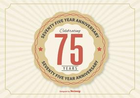 75 Year Anniversary Illustration