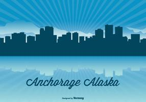Alaska Skyline Illustration
