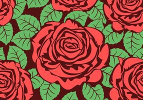 Roses Vector Background Texture Free