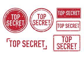 Top Secret Vector Stamps