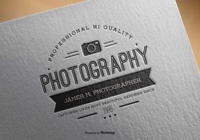 Vintage Photography Logo Template