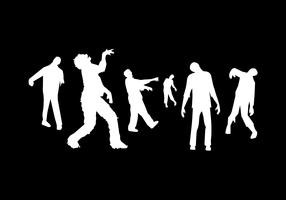 Zombie Silhouette Vector Pack