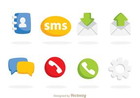 Colorful Social Vector Icons