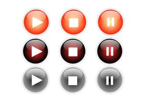 Conjunto de botones de reproducción