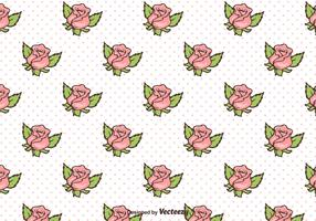 Free Retro Roses Background Vector