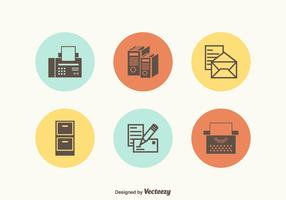 Free Retro Office Supplies Vector Icons