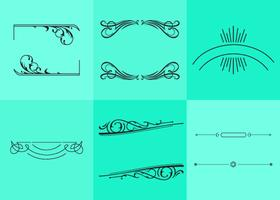 Fancy Line Ornament Vectors