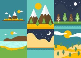 Cartoon Landscape Vectors