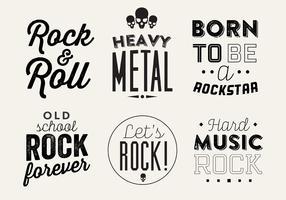 Typographic Vector Background of Rock Music