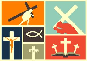 Vector Illustration of Religious Events and Elements