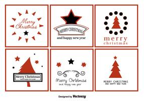 Merry Christmas Greeting Labels