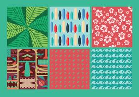 Hawaiian Vector Background Set