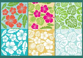 Hawaiian Flowers Pattern Vectors