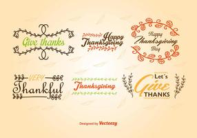 Caligraphic Thanksgiving labels