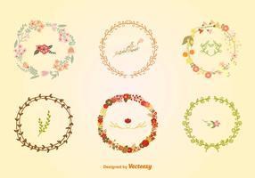 Hand-Drawn Floral Wreaths