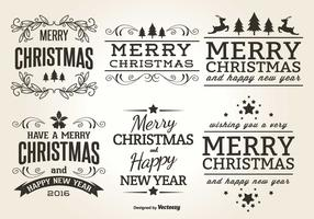 Christmas Typographic Label Set