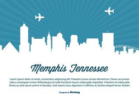 Memphis Tennessee Skyline Illustration