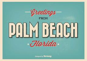 Palm Beach Florida Greeting Illustration