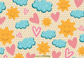 Hand-Drawn Cute Sunny Icons
