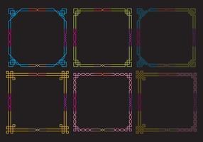 Neon Frames Vectors