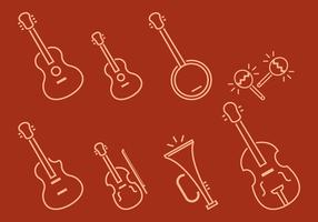 Linear Ukulele Vectors