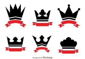 Crown And Ribbon Logo Vectors