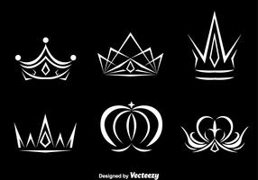 White Crown Logo Vectors
