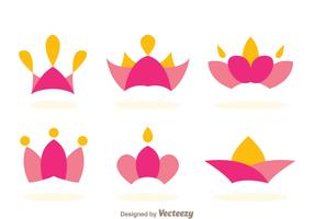 Princess Crown Logo Vectors