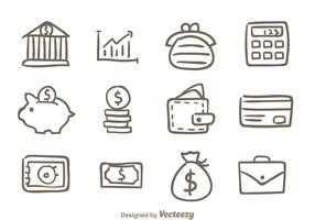 Hand Drawn Bank Icons