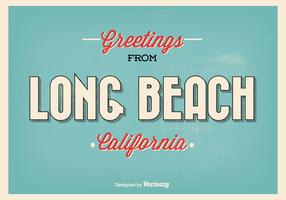 Long Beach Retro Greeting Illustration