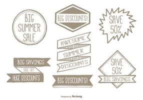 Hand Drawn Promotional Label Set