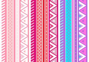Free Pink Aztec Geometric Seamless Vector Pattern