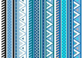 Free Blue Aztec Geometric Seamless Vector Pattern