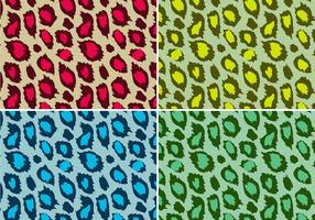 Colored Leopard Animal Print Vector