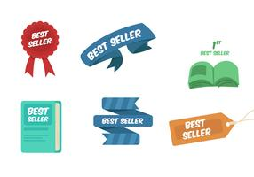 Best Seller Ribbons And Book Vectors