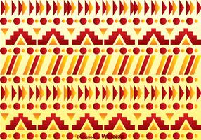 Red And Orange Aztec Pattern