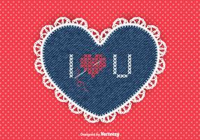 Free Vector Needlework Heart