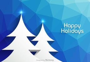 Free Happy Holidays Vector Background