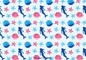 Free Cartoon Sea Vector Pattern