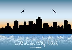 Beautiful Salt Lake City Skyline Illustration