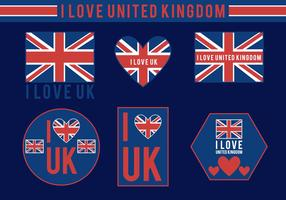 I Love UK Vectors