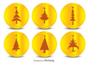 Christmas Tree Silhouette Icons