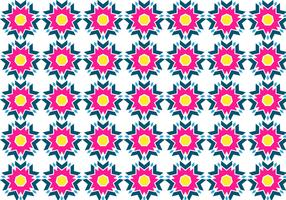 Free Aztec Pattern With Yellow Vector