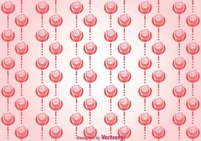 Pink Roses And Lines Background